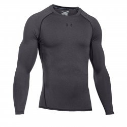 Pánske kompresné tričko s dlhým rukávom UNDER ARMOUR-UA HG ARMOUR LS-GRY