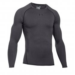 Pánske tréningové tričko s dlhým rukávom UNDER ARMOUR-UA HG ARMOUR LS-GRY
