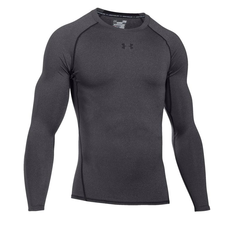 Pánske tréningové tričko s dlhým rukávom UNDER ARMOUR-UA HG ARMOUR LS-GRY -