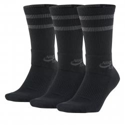 Ponožky NIKE-Unisex Nike SB Crew Skateboarding Socks (3 Pairs) BLACK
