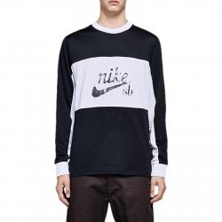 Pánske tričko s dlhým rukávom NIKE-Nike SB Dry BLACK/WHITE/BLACK