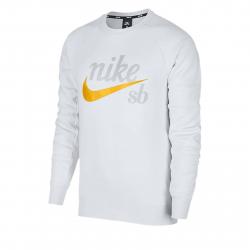 Pánska mikina NIKE-Nike SB Icon WHITE/YELLOW OCHRE