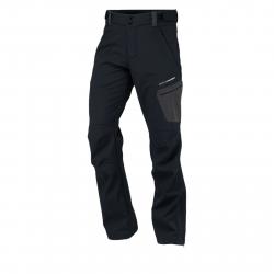 Pánske turistické softshellové nohavice NORTHFINDER-CAMREN-black