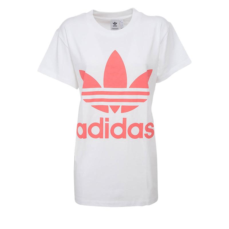 Dámské triko s krátkým rukávem ADIDAS-BIG TREFOIL TEE WHITE / SEFLRE