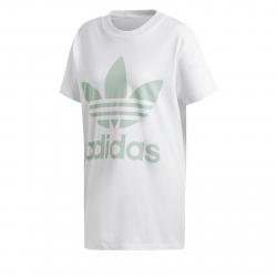 Dámske tričko s krátkym rukávom ADIDAS ORIGINALS-BIG TREFOIL TEE WHITE  BLUGRN 8c5ec59dd69