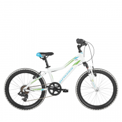 Dievčenský bicykel KROSS-Lea Mini 2.0 D 20 white_blue_green_glossy
