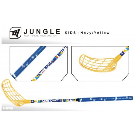 Detská florbalová hokejka MPS-JUNGLE KIDS Navy/Yellow R