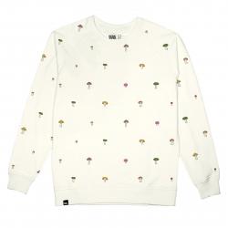 Pánska mikina DEDICATED-Sweatshirt Malmoe Mushrooms Embroidery
