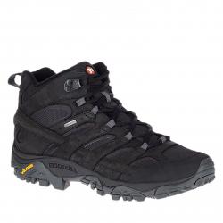 Pánska turistická obuv stredná MERRELL-MOAB 2 SMOOTH MID GTX black