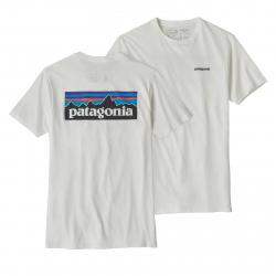 Tričko s krátkym rukávom PATAGONIA-M s P-6 Logo Organic T-Shirt White