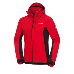 Pánska turistická softshellová bunda NORTHFINDER-MARQUIS-red