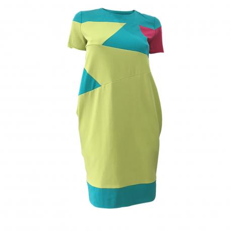 e43c7fce8a06 Dámske šaty EXISPORT-Geometrical