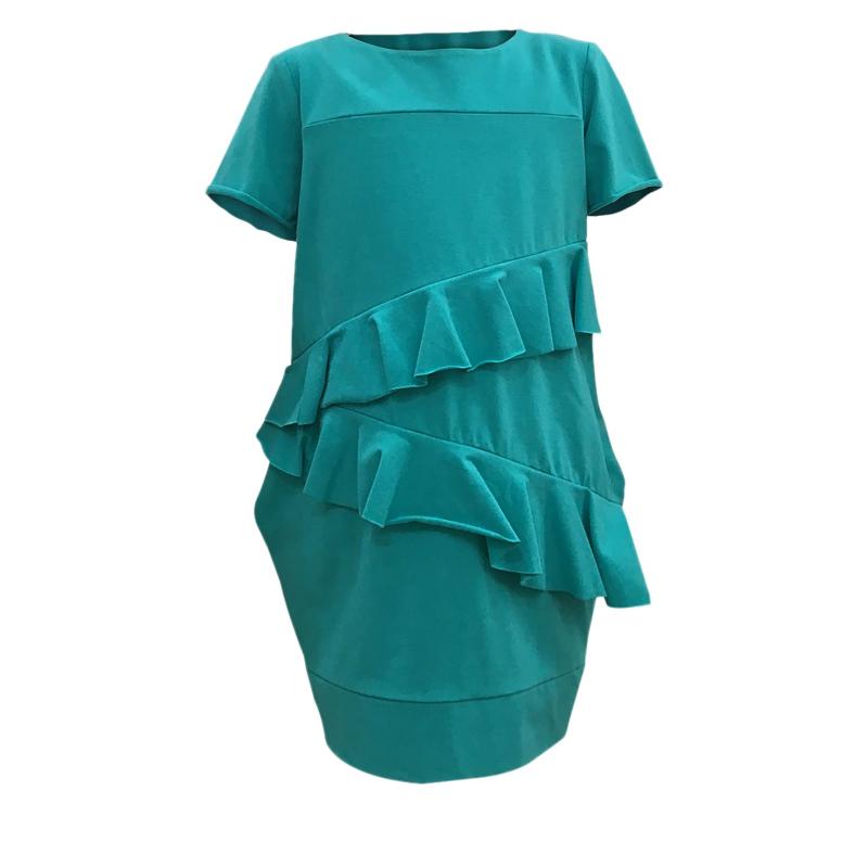 db03532c63c1 Dievčenské šaty JANA POLAK-Frill girl tyrkys -