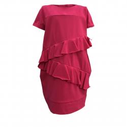 Dievčenské šaty JANA POLAK-Frill girl fuchsia