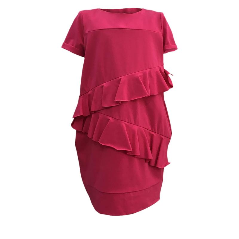 8f86170fd27c Dievčenské šaty JANA POLAK-Frill girl fuchsia -