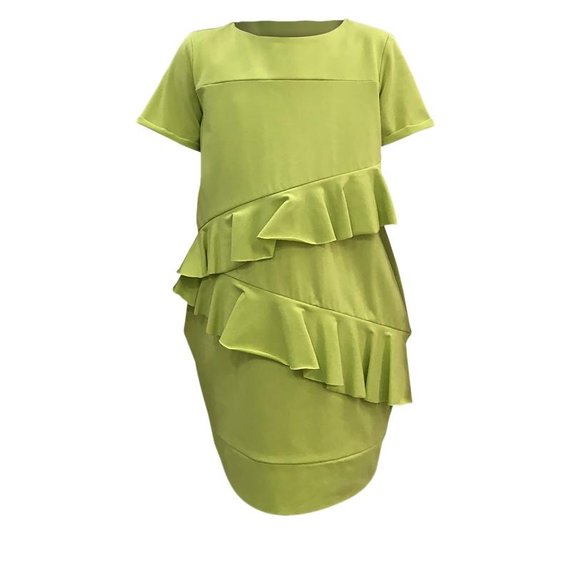 7d87a604f2b8 Dievčenské šaty JANA POLAK-Frill girl limet -