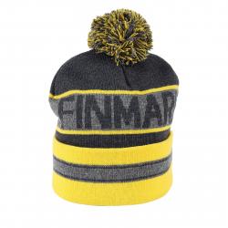 Juniorská zimní čepice FINMARK FC1850 GREY   YELLOW de33480c4b3