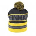 Juniorská zimná čiapka FINMARK-FC1850 GREY/YELLOW -