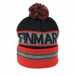 Juniorská zimná čiapka FINMARK FC1851 GREY/RED