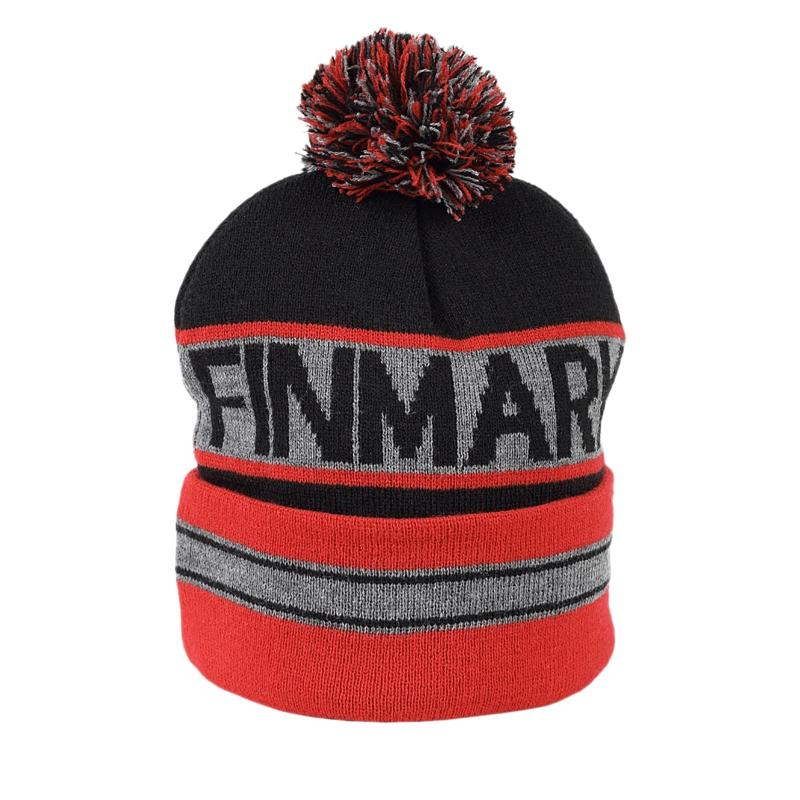 Juniorská zimná čiapka FINMARK FC1851 GREY/RED -