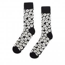 Módne ponožky HAPPY SOCKS-Twisted Smile Black Sock
