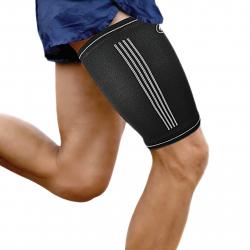 Fitness chránič FORTUNA Premium kompresná bandáž stehna tmavo-modrá
