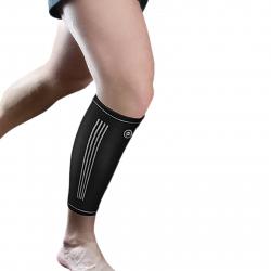 Fitness chránič FORTUNA Premium kompresná bandáž lýtka tmavo-modrá
