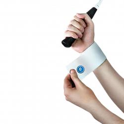 Fitness chránič FORTUNA Elastická bandáž zápästia biela