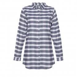 Dámska košeľa s dlhým rukávom BERG OUTDOOR-TARIM DARK BLUE