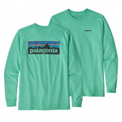 Pánske tričko s dlhým rukávom PATAGONIA-M s L/S P-6 Logo Responsibili-Tee Vjosa Green