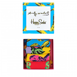 Módne ponožky HAPPY SOCKS-Andy Warhol Sock Box Set