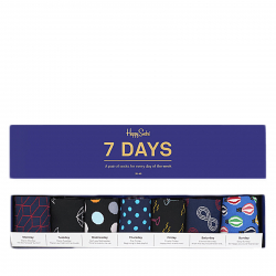 Módne ponožky HAPPY SOCKS-7 Days Gift Box