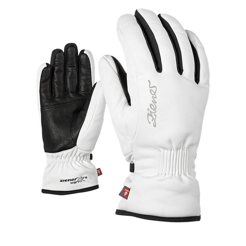 Dámské lyžařské rukavice ZIENER KARINE AS (R) PR - white - 8ffd0a8d6b