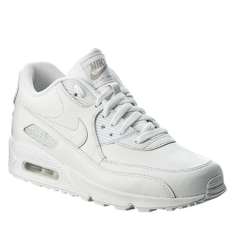 23d0cdde5d65 Pánska vychádzková obuv NIKE-Mens Nike Air Max 90 Leather Shoe TRUE  WHITE TRUE