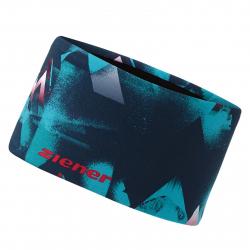 Čelenka ZIENER IWINTE band - methyl blue.fiery red