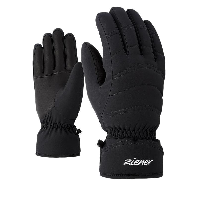 Dámske lyžiarske rukavice ZIENER KAMIRA - black  0323662bca