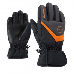 Juniorské lyžiarske rukavice ZIENER LORIK - black/graphite