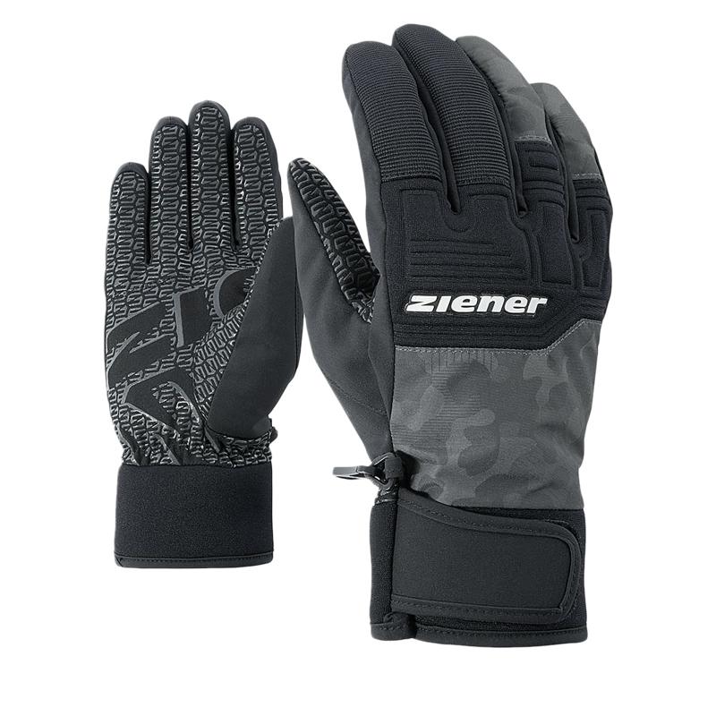 Pánske lyžiarske rukavice ZIENER GARIM AS(R) - magnet camo print ... 69e3ba70b3