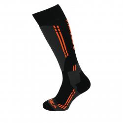 Lyžiarske podkolienky (ponožky) TECNICA Competition ski socks, black/anfhracite/orange