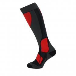 Lyžiarske kompresné podkolienky BLIZZARD Compress 120 ski socks, black/grey/red