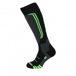 Lyžiarske podkolienky (ponožky) BLIZZARD-Allround wool ski socks,black/anthracite/green
