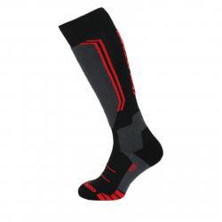 Lyžiarske podkolienky (ponožky) BLIZZARD-Allround wool ski socks,black/anthracite/red