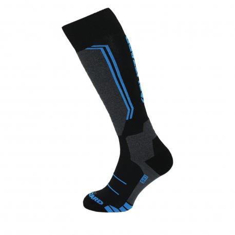 Juniorské lyžařské podkolenky (ponožky) BLIZZARD-Allround wool ski socks junior, black / anthracite / blue