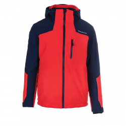 Pánska lyžiarska bunda BLIZZARD-Mens Jacket Bormio, blackblue/redorange