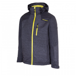 Pánska lyžiarska bunda BLIZZARD Mens Jacket Bormio, black melange/grey melange/l