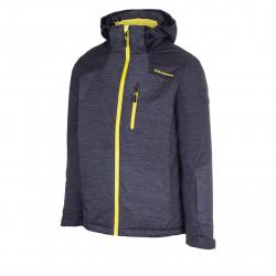 Pánska lyžiarska bunda BLIZZARD-Mens Jacket Bormio, black melange/grey melange/lime