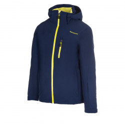 Pánska lyžiarska bunda BLIZZARD-Mens Jacket Bormio, blackblue/lime