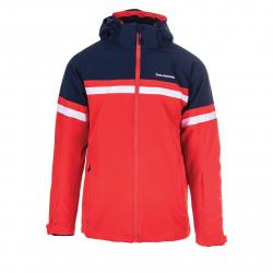 Pánska lyžiarska bunda BLIZZARD-Mens Jacket Arabba, blackblue/redorange/white