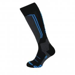 Lyžiarske podkolienky (ponožky) BLIZZARD-Allround wool ski socks,black/anthracite/blue