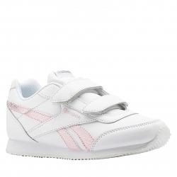 18a1360c9e90 Juniorská rekreačná obuv REEBOK-REEBOK ROYAL CLJOG WHITE PRACTICAL PINK